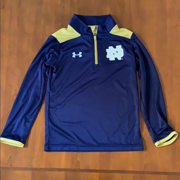 Other - Under Armour Notre Dame Quarter Zip